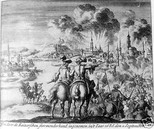 Siege of Buda Budapest Hungary 1686 Holy League Ottoman Empire  6x5 inch Print