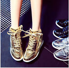 Womens Lace Up Hidden Wedge Heel Athletic New Sneakers Shoes Ankle Boot YE Shoes