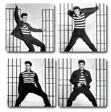 ELVIS PRESLEY INSPIRED COASTERS - SET OF 4 - HIGH QUALITY - IDEAL GIFT