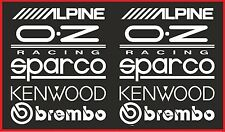 10 X RACING STICKERS WHITE Window Bumper Vinyl Sticker JDM Sponsor Decals
