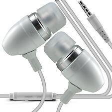 Blanc Premium oreillette mains-libres avec micro pour LG G3 stylet