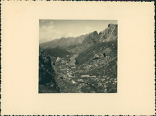 France, Haut-Queyras, près de Col Saint-Véran       Vintage silver print Tir