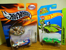 HOT WHEELS RACING TWIN MILL REAL RIDERS & HW WORKSHOP TWIN MILL RARE 2 CARS MIP!