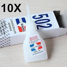 10x 502 Super Glue Cyanoacrylate Adhesive Strong Bond Fast Repair Tool 10g