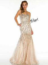 Mac Duggal  Ball Gown .size 10  Champagne Color evening dress .prom.gown.wedding