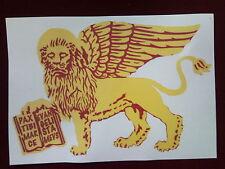 Stemma adesivo grande  Leone di San Marco sfondo trasparente adesivi Venezia