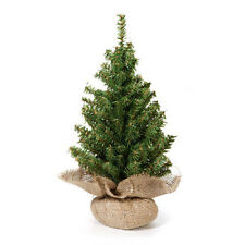 "Darice Artificial Tabletop Tree – Christmas Pine Non-Lit Burlap Base 18"" #RC6532"