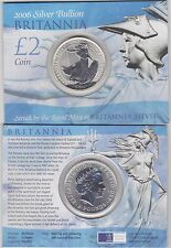 2006 SILVER £2/1oz. BRITANNIA IN NEAR MINT CONDITION IN ROYAL MINT FLATPACK