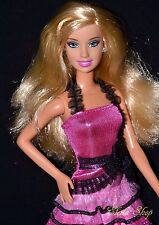 PRETTY IN PINK & BLACK FASHION BARBIE DOLL ARTICULATED POSABLE LEGS