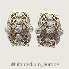 Silber Creolen vergoldet Ohrringe Zirkonia silver gilt earrings zirconia loops