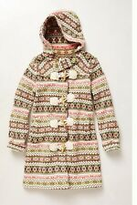 Anthropologie  archival collection fairisle sweater coat lambswool hoodie knit M