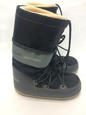 MARC BY MARC JACOBS THE MOON BOOT BLACK GRAY LACE UP SNOW BOOTS WINTER SHOES 7 1