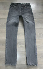 "Vintage Grey Denim CHEAP MONDAY Slim Skinny Men's Button Fly Jeans Sz W30"" L34"""