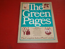 VINTAGE PLANT BOOK GREEN PAGES THE COMPLETE INDOOR PLANT CATALOG 1977 SOFTCOVER