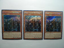 Noble Knight Brothers x 3 * Secret Rare MP15 Playset * Factory Damage * Yu-gi-oh