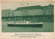 Guida BARES modello vaporetti Amburgo AK Hamburg-America-linea navi Hapag 1701392