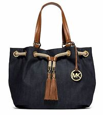 Michael Kors Tasche/Handtasche/Bag MARINA LG Drws Gathered Tote Denim NEU!