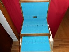 MID-CENTURY VINTAGE WOOD FLATWARE CHEST WITH DRAWER - NICE CHEST-GOOD CONDITION!