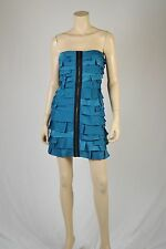 BCBGMaxAzria - Brandie Tiered Strapless Dress ,  Size : 8  ,color: Teal