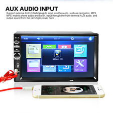 7'' 2 DIN In Dash 1080P HD Bluetooth Car Stereo Radio MP3 Player AUX TouchScreen