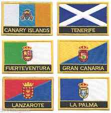 Spain Canary Islands Set of 6 Flag Embroidered Rectangular Patches