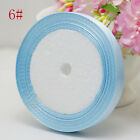 "Free Shipping wedding festival 25 Yards 3/8""10mm Craft Satin Ribbon Light Blue"