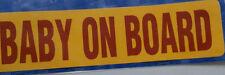 NEW BABY ON BOARD SELF ADHESIVE STICKER CAR VAN CAMPER CARAVAN 55x215 mm