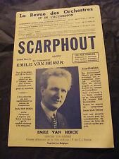 Partition Scarphout Emile Van Herck