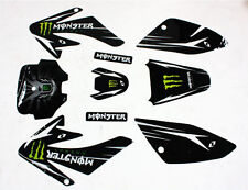 Monster Sticky Decal Graphic Sticker Kit CRF70 Fairing PIT PRO Trail Dirt Bike
