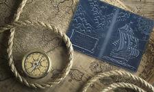 """Premium leather passport cover case """" Captain Columbus's Sailboat 3D Print"""" #2"""