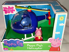 Peppa Pig Blue Helicopter & Peppa Figure - Peppa loves to go Flying