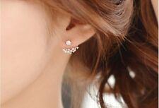 18K GP Two ways Group Star CZ Designer Women Earrings Ear Stud  . USA seller