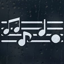 Music Notes Car Decal Vinyl Sticker For Window Or Bumper Or Panel Or Wall