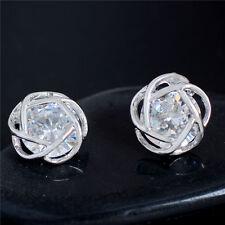 Mixed Style Lovely New 18K gold filled cubic zirconia Women's Ear Stud Earrings