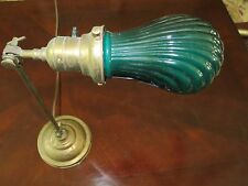 Antique Faries Industrial Desk Lamp O.C. White Era w/ EMERALITE Clam Shell Shade