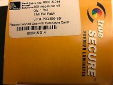 Zebra 800015-014 TrueSecure Clear 1.0mil Laminate - 100 imprints P520C , P520
