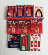 "Christmas Angel Chimes 4"" Candles 10 Packs Mixed Lot Red White 95 Total"