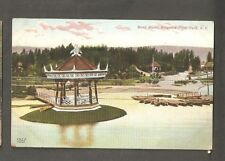 Vtg Postcard Band Stand Kingston Point Park NY New York Early