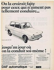 PUBLICITE ADVERTISING 054 1965 DAF automatique voiture automobile