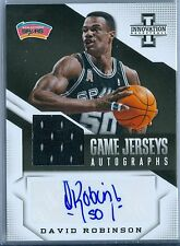 DAVID ROBINSON 2013-14 INNOVATION GAME USED JERSEY AUTO AUTOGRAPH SP/35