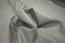"CANCLINI SILVER BASKET WEAVE FINE ITALIAN 100% COTTON SHIRTING FABRIC 60"" W"