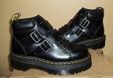 DR MARTENS Bryony Womens Black Leather Platform Ankle Boots US 11/EU 43/UK 9 NIB