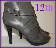 Sz 12m Gray peep toe booties, by Fioni  perfect for cooler weather, shoes boots