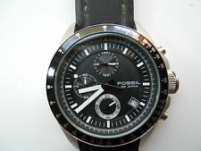 Fossil chronograph mens silicon rubber band quartz & battery watch.Ch-2573