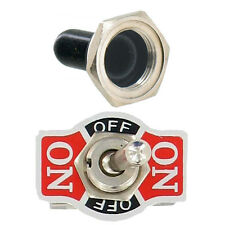 20A 125V SPDT 3 Pin (ON)-OFF-(ON) Momentary Rocker Toggle Switch Boot Knob Sales