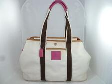 COACH 6262 USED/BAD WHITE HAMPTONS WEEKEND XL REVERSIBLE SIGNATURE TOTE/SHOPPER