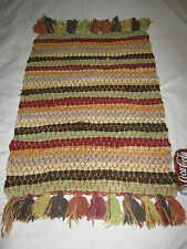 ANTIQUE # 2 COLORFUL WOVEN TEXTILE WALL ART RAG RUG HOME OFFICE BRAIDED CARPET