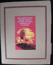 Disney Lion King For Your Consideration Art Book Pop Up Academy Awards