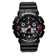 Casio G-Shock World Time Led Light Digital Analog Timer Watch GA100-1A4