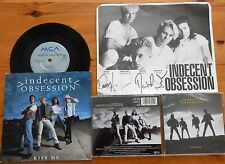 """Indecent Obsession cd album-indio ,7""""- kiss me  & signed photo"""